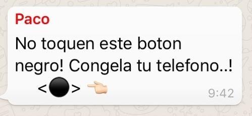 Otra Cadena De Whatsapp Poco Amigable El Botón Negro Que No Hay Que Tocar La Voz Del Pueblo